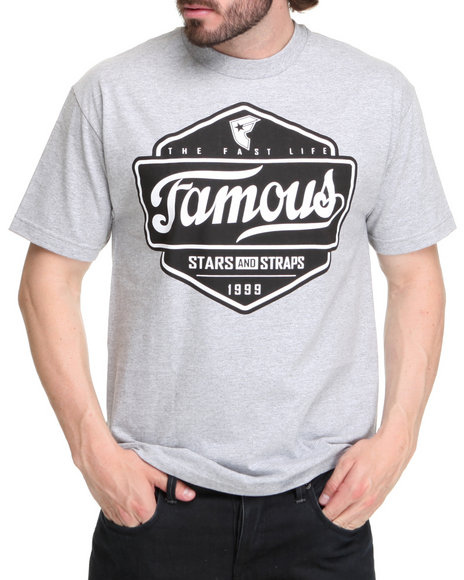 Famous Stars & Straps Men Grey Top Choice Tee