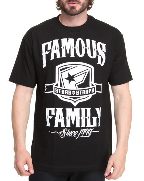 Famous Stars & Straps Men Black Statement Tee