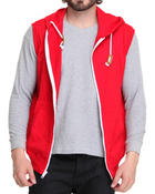 Basic Essentials - Solid French Terry Zip Hoody Vest