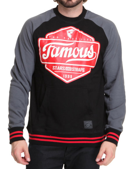 Famous Stars & Straps Men Black Top Choice Crewneck Sweatshirt