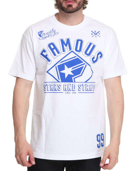 Famous Stars & Straps Men White Flight Crew Tee