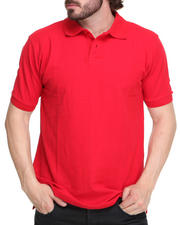 Shirts - Solid Basic Pique Polo Shirt