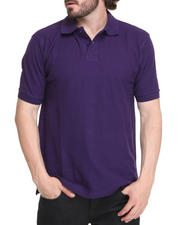 Men - Solid Basic Pique Polo Shirt