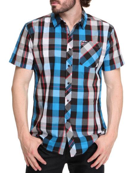 Zoo York Men Blue Mercury Short Sleeve Woven Shirt