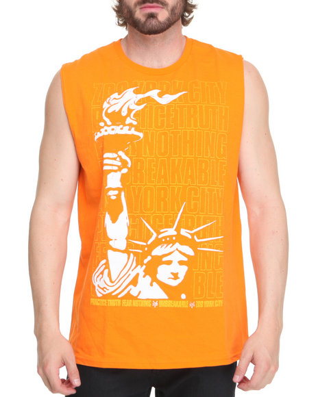 Zoo York Men Orange Liberty Stack Tank