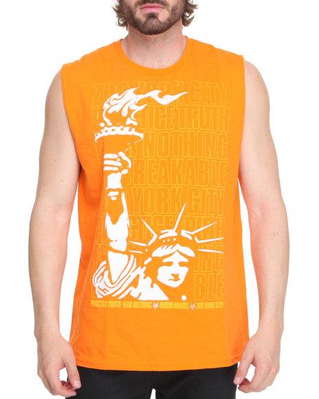 Zoo York Men Orange Liberty Stack Tank