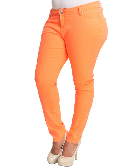 Basic Essentials Women Orange Basic 5Pkt Skinny Jeans (Plus)