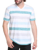 Men - Streak Striped V-Neck Tee