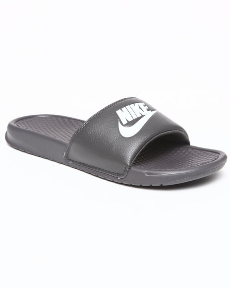 Nike Men Charcoal Benassi Jdi Sandals
