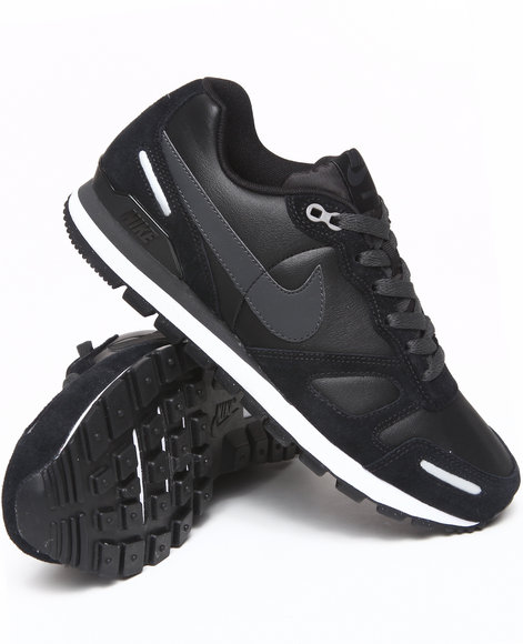 Nike Men Black Air Waffle Trainer Leather Sneakers