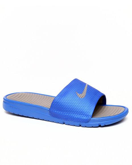 Nike Men Blue Benassi Solarsoft Slide Sandals