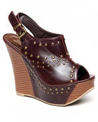 Two Lip Shoes - Grommet Wedge Sandal