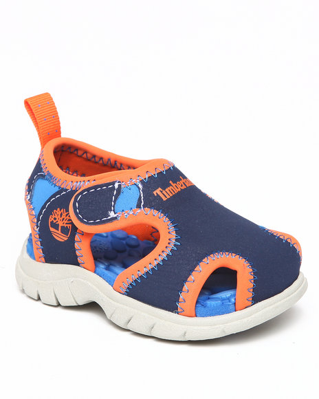 Timberland Boys Navy Little Harbor Closed Toe Sandals (Toddlers)