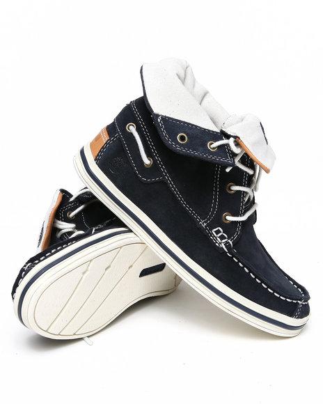 Timberland Boys Navy Earthkeepers Casco Bay Roll Top Chukka Shoes