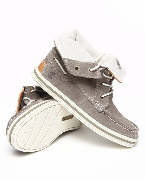 Timberland Boys Grey Earthkeepers Casco Bay Roll Top Chukka Shoes