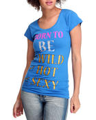 Women - Born To Be Wild, Hot Sexy Tee w/studs