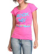 Women - Rock My World Tee w/studs