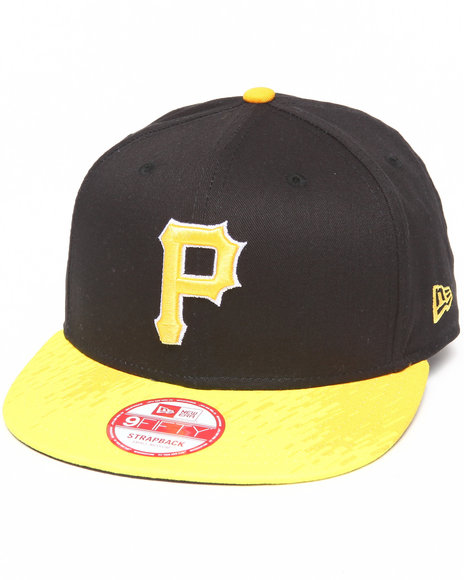 New Era Men Black,Yellow Pittsburgh Pirates Cyber Visor Snapback Hat