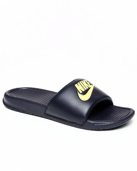 Nike Men Navy Benassi Jdi Sandals