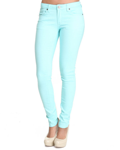 Basic Essentials Women Blue Glitter Jeans