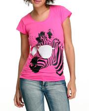 Women - Zebra Print Tee Shirt