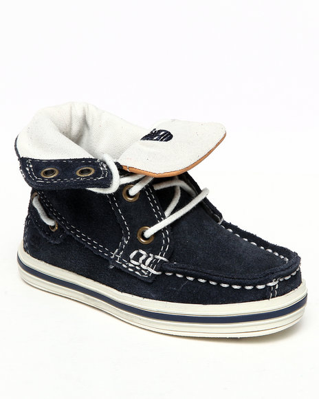 Timberland Boys Navy Earthkeepers Casco Bay Roll Top Chukka Shoes (Toddlers)