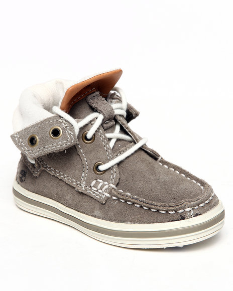 Timberland Boys Grey Earthkeepers Casco Bay Roll Top Chukka Shoes (Toddlers)