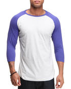 T-Shirts - Single Jersey Baseball Raglan 3/4 Sleeve Shirt
