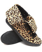 Women - Thrill fold Down Sneaker w/leopard