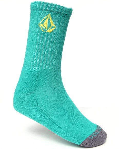Volcom Men Full Stone Socks Green