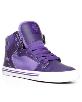 Supra - Vaider Purple Leather/Lavender Nylon Sneakers