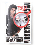DRJ Music Merch - Mj Bad In-Ear Buds headphones w/cassette Box