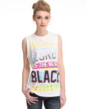 S / S '13 - Hers - Lord Is the New Black Sleeveless Crewneck tee