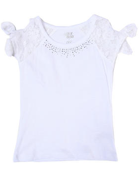 La Galleria - TOP W/ CROCHET SLEEVES (4-6X)