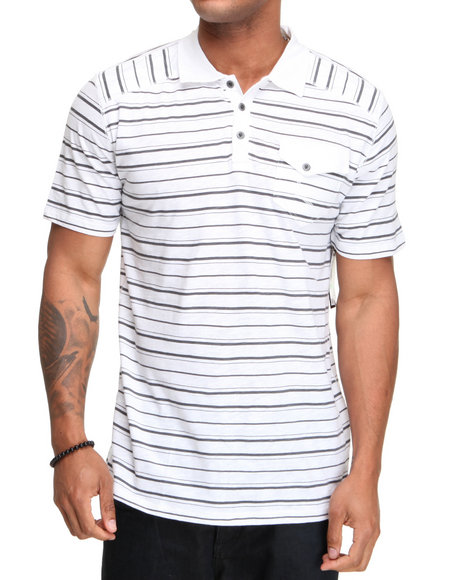 Company 81 Men White S/S Slub Polo Shirt
