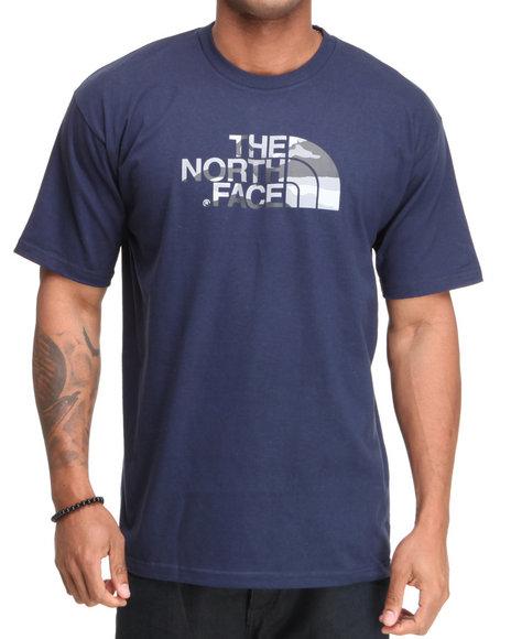 The North Face Men Blue Camo Logo Tee