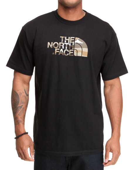 The North Face Men Black Camo Logo Tee