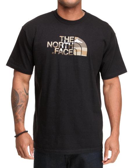 The North Face Men Black Camo Logo Tee
