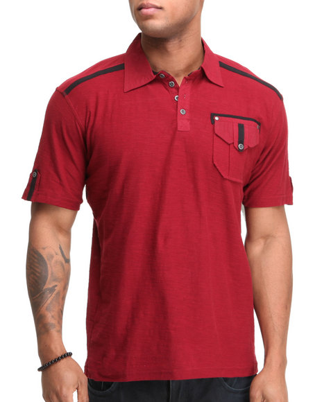 Company 81 Men Red Co 81 Jersey Polo