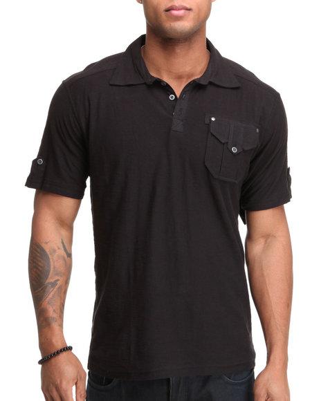 Company 81 Men Black Co 81 Jersey Polo