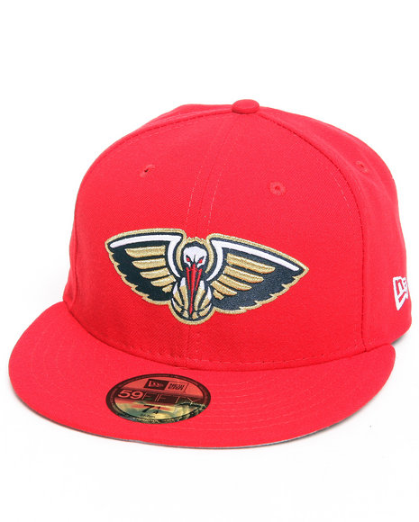 New Era - Men Red New Orleans Pelicans 5950 Fitted Hat