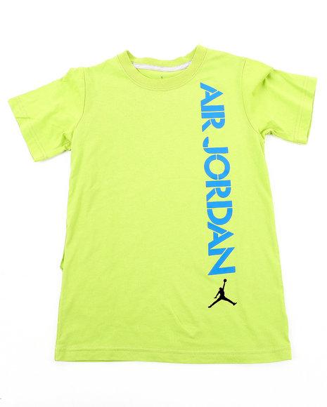 Air Jordan Boys Lime Green Air Jordan Stencil Tee (8-20)