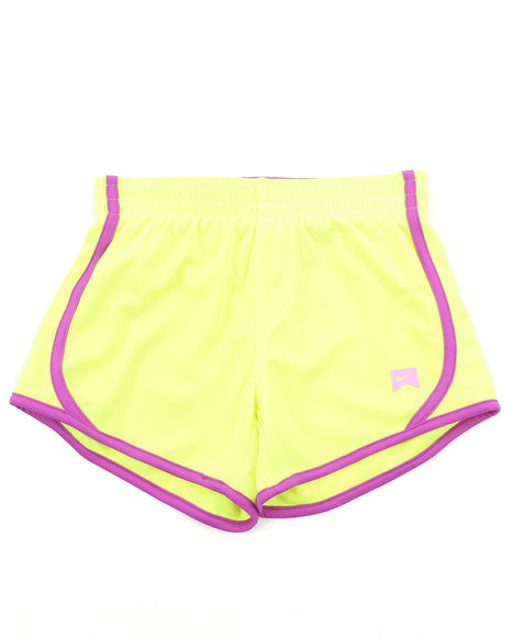 Nike Girls Yellow Mesh Tempo Shorts (7-16)