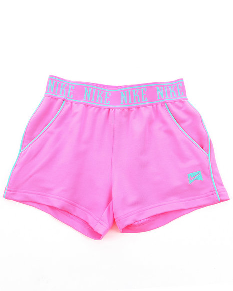 Nike Girls Pink Logo Tricot Shorts (7-16)