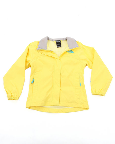 The North Face Girls Yellow Resolve Jacket (4-16)