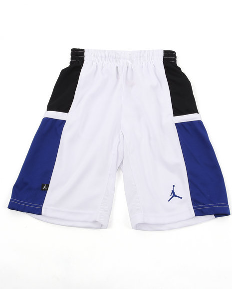 Air Jordan Boys White Bankroll Shorts (8-20)