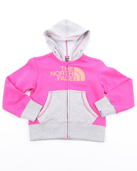 The North Face Girls Pink Half Dome Full Zip Hoody (4-6X)