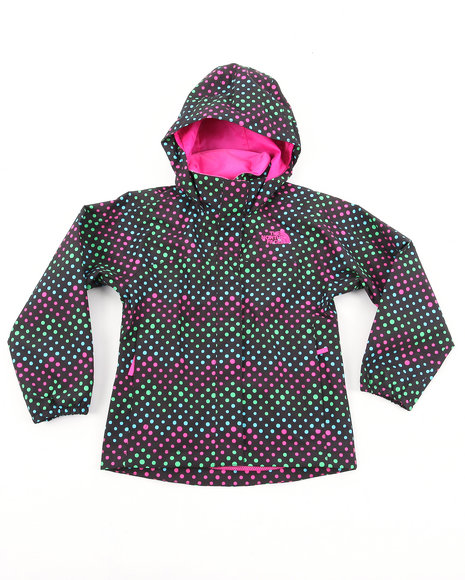 The North Face Girls Black Dottie Resolve Jacket (4-6X)