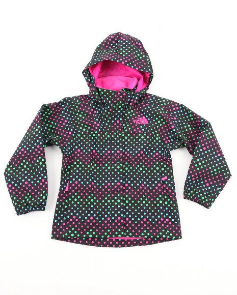 The North Face Girls Black Dottie Resolve Jacket (4-16)