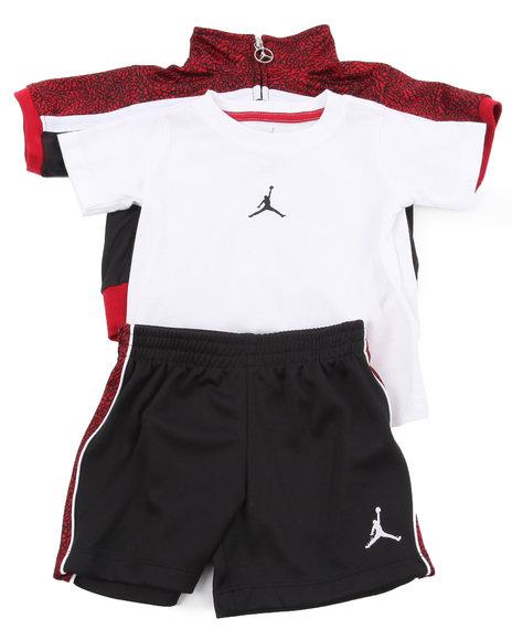 Air Jordan Boys Black Retro 3 Pc Set (Infant)